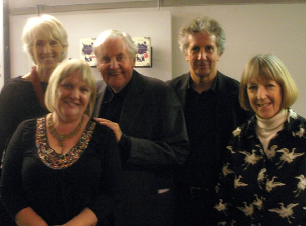 Richard Briers with (l-r) Joanna Trollope, Jane Davis, Blake Morrison and Angela Macmillan