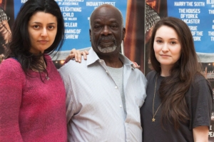 Shanaya Rafaat (Regan), Joseph Marcell (Lear) and Bethan Cullinane (Cordelia/Lear's Fool)