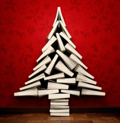 christmas book tree