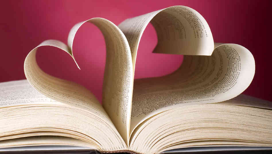 book pages shapes like hearts