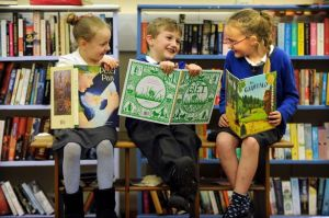 Children at the City of Readers Launch c. Liverpool Echo