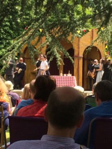 Much Ado in full swing at the Garden Theatre at Calderstones (credit: @shell_here on Twitter)