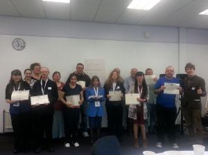 Our Admin Assistant Volunteers and Merseyside Volunteer team looking great on camera