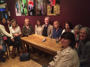 Our Barnet Volunteers and Coordinator Paul Higgins with actress Claire Skinner at the Tricycle Theatre, discussing 'The Father'