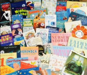 A small selection of some of the wonderful books sent to Off The Page by Siobhan Dowd Trust
