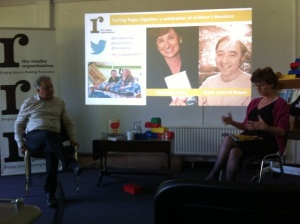 Nicolette Jones and Frank Cottrell Boyce discuss today's 'golden age' of children's books at The Reader Organisation's headquarters
