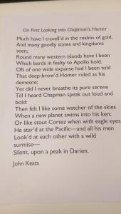Keats AGM poem