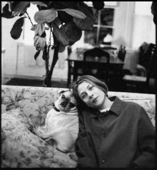 Donna Tartt with her pug Pongo