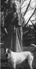 Mark Twain with Cane