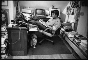 Stephen King with Corgi Marlowe